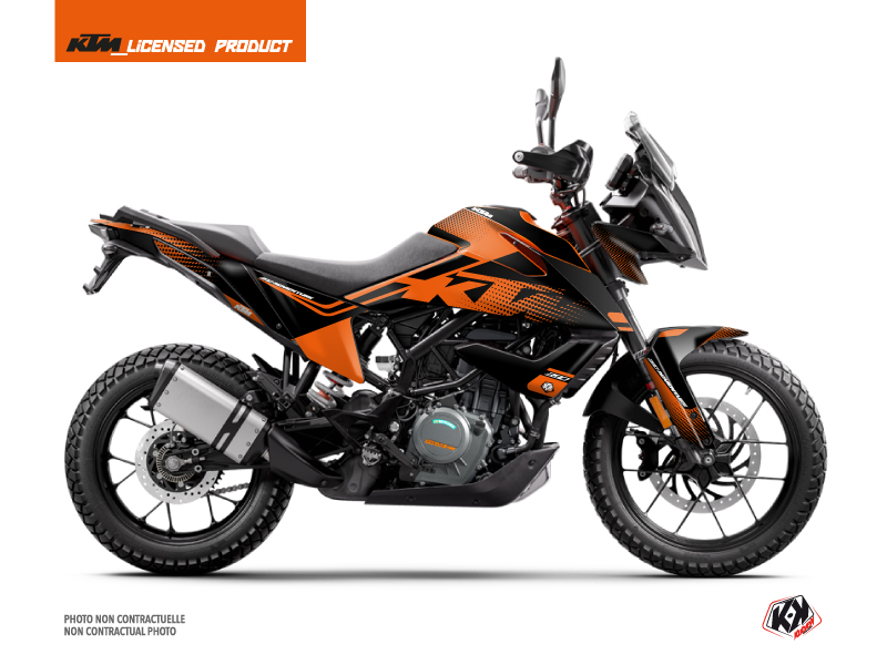 KTM 390 Adventure Street Bike Raster Graphic Kit Black Orange