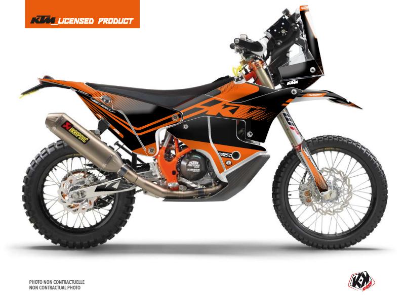 KTM 450 Rally Dirtbike Raster Graphic Kit Black Orange