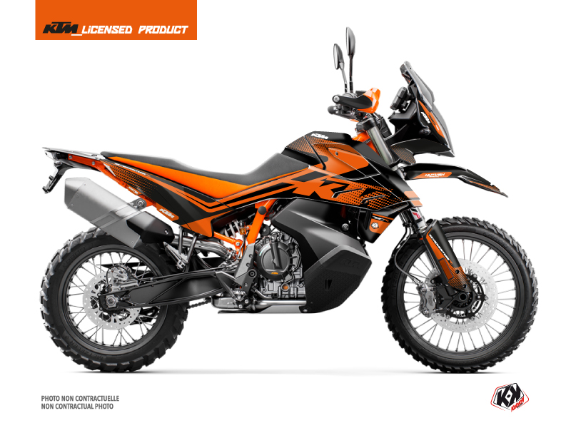 KTM 790 Adventure R Street Bike Raster Graphic Kit Black Orange
