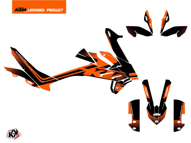 KTM 890 Adventure R Street Bike Raster Graphic Kit Black Orange