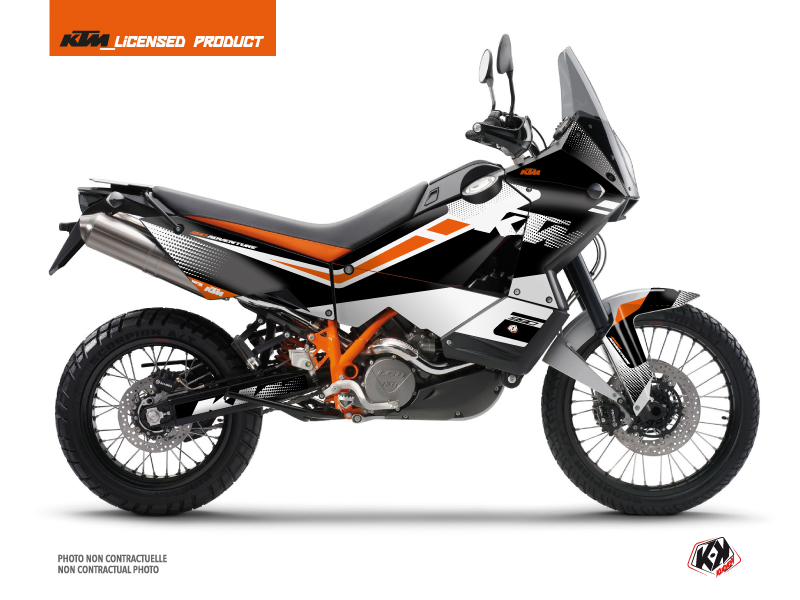 KTM 990 Adventure Street Bike Raster Graphic Kit Black White