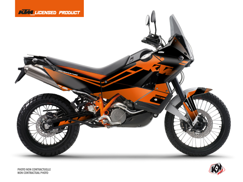 KTM 990 Adventure Street Bike Raster Graphic Kit Black Orange
