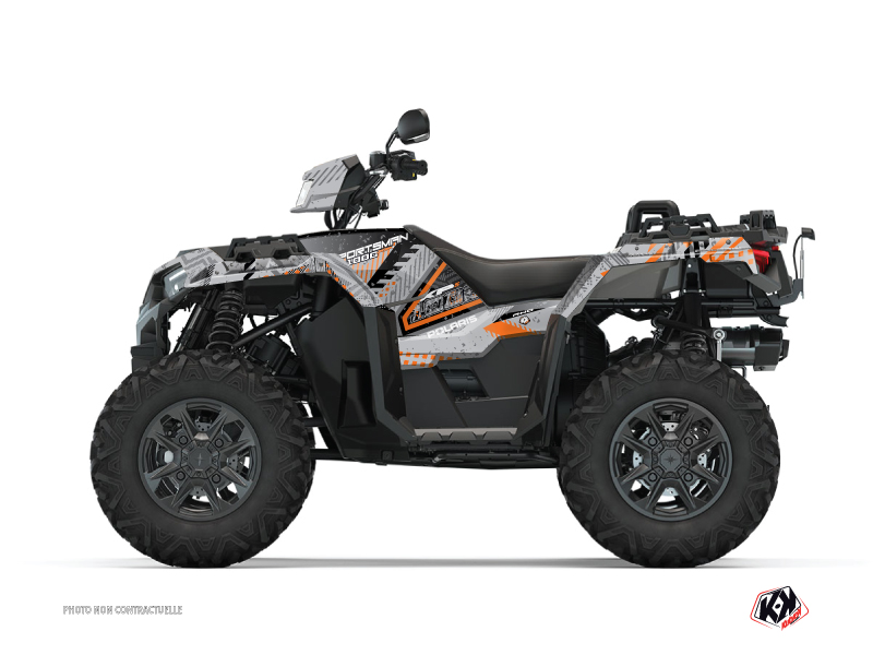 Polaris 1000 Sportsman XP S Forest ATV Redrock Graphic Kit Grey Orange