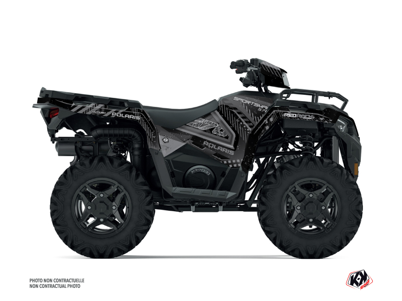 Polaris 570 Sportsman ATV Redrock Graphic Kit Black