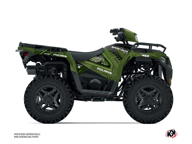 Polaris 570 Sportsman ATV Redrock Graphic Kit Green