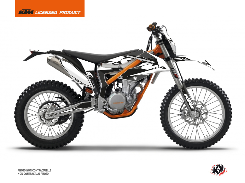 KTM 350 FREERIDE Dirt Bike Reflex Graphic Kit White