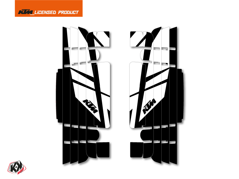 Kit Deco Radiator guards Reflex KTM EXC-EXCF 2017 White
