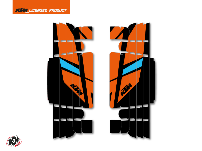Kit Deco Radiator guards Reflex KTM EXC-EXCF 2017 Orange
