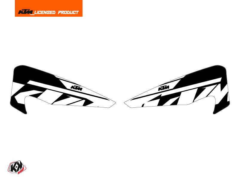 Graphic Kit Hand Guards Stickers Reflex Dirt Bike KTM EXC-EXCF White