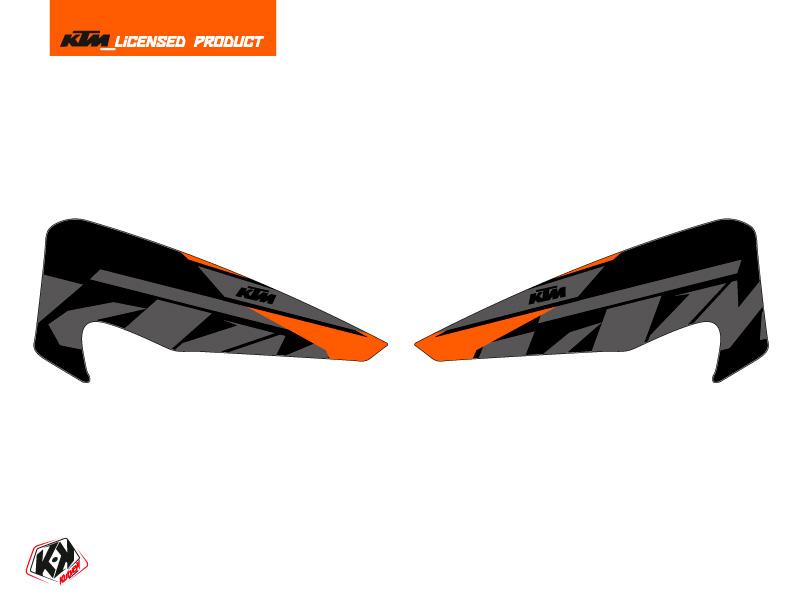 Graphic Kit Hand Guards Stickers Reflex Dirt Bike KTM EXC-EXCF Black