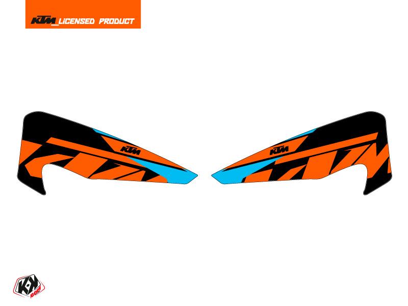 Graphic Kit Hand Guards Stickers Reflex Dirt Bike KTM EXC-EXCF Orange