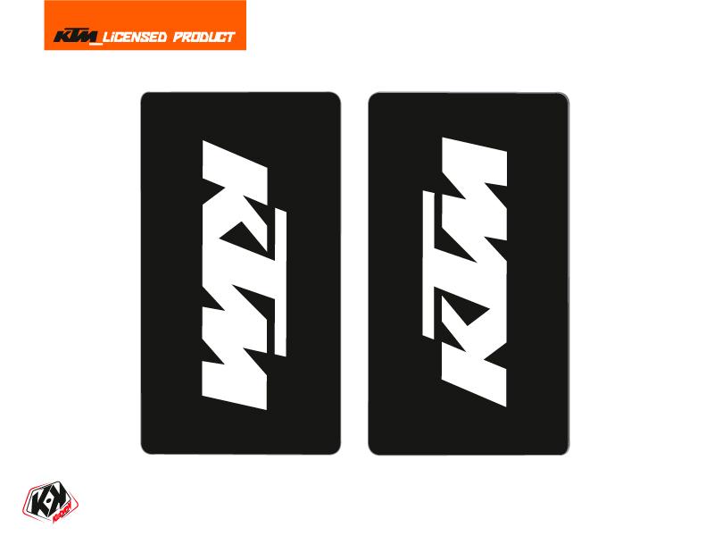 Kit Déco Stickers de fourche Reflex Moto Cross KTM SX-SXF EXC-EXCF Blanc