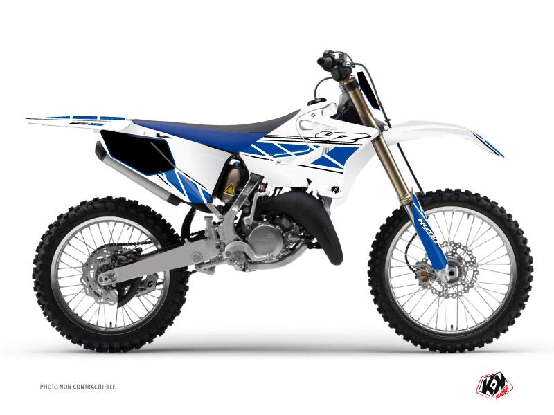 Yamaha 125 YZ Dirt Bike Replica Graphic Kit White Blue