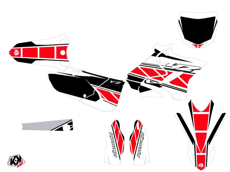Yamaha 125 YZ Dirt Bike Replica Graphic Kit Red