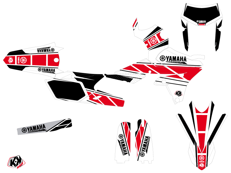 Yamaha 250 WRF Dirt Bike Replica Graphic Kit Red
