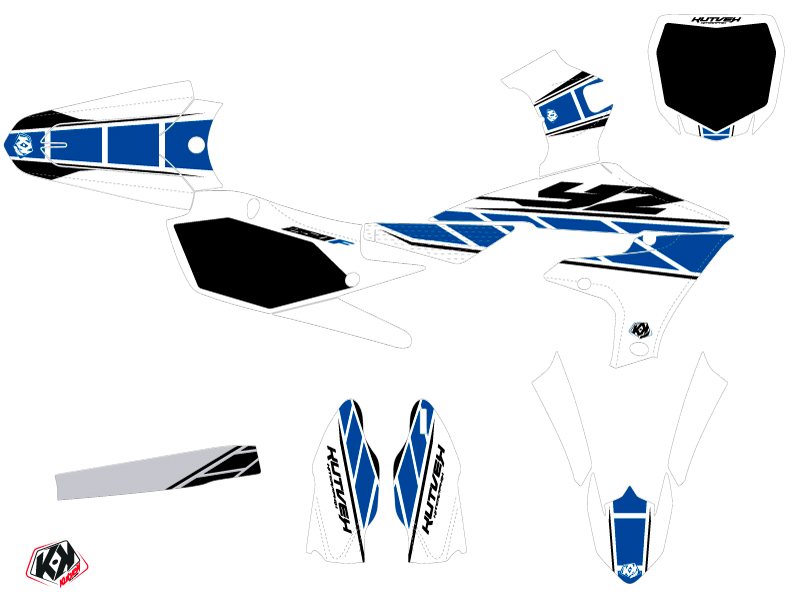 Yamaha 250 YZF Dirt Bike Replica Graphic Kit White Blue