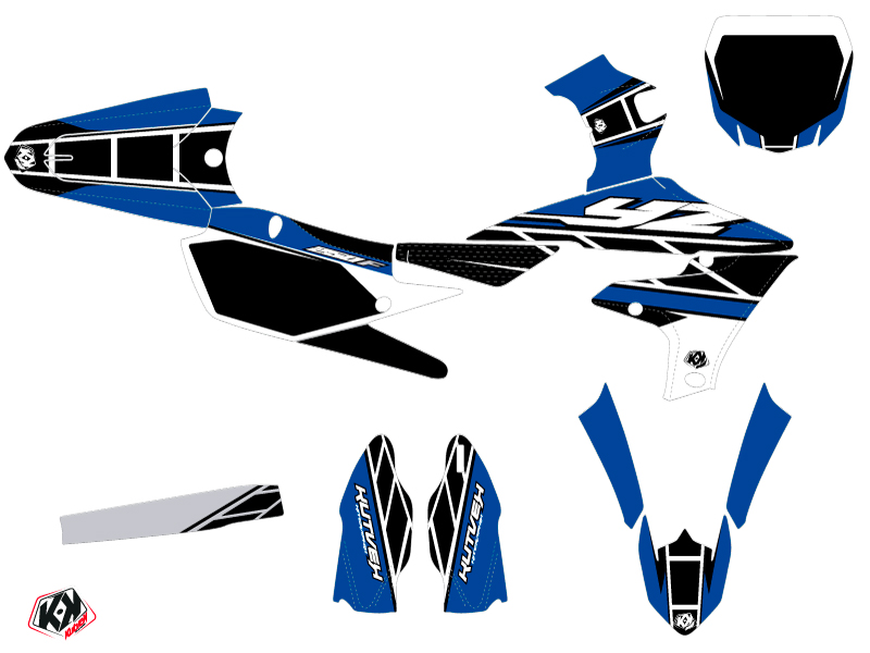 Yamaha 250 YZF Dirt Bike Replica Graphic Kit Blue