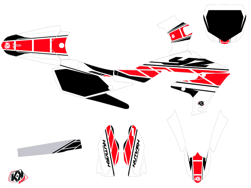 Kit Déco Moto Cross Replica Yamaha 250 YZF Rouge