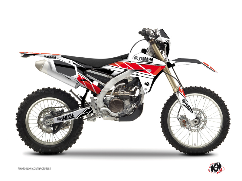 Kit Déco Moto Cross Replica Yamaha 450 WRF Rouge
