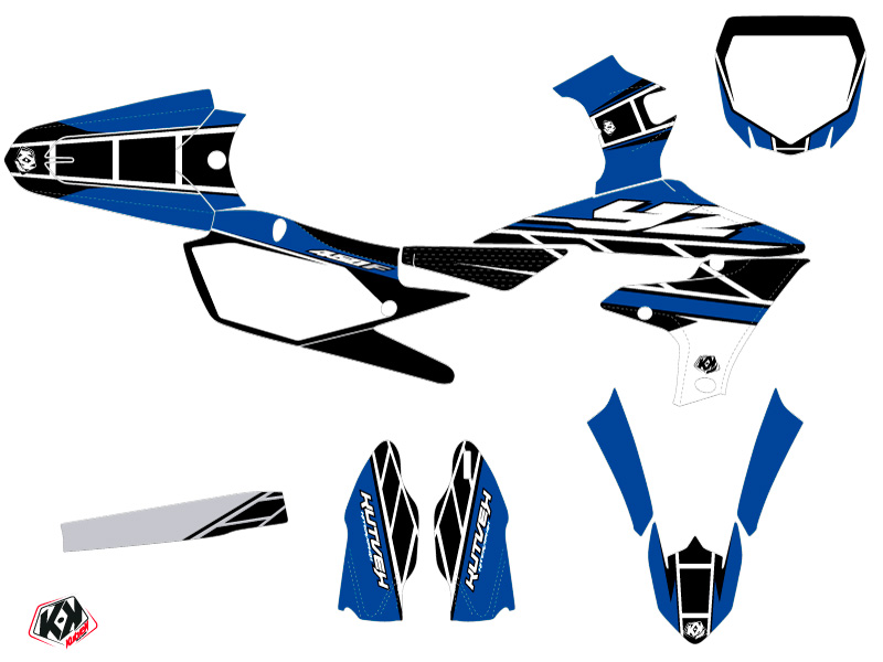 Yamaha 450 YZF Dirt Bike Replica Graphic Kit Blue