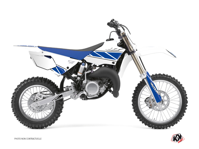 Yamaha 85 YZ Dirt Bike Replica Graphic Kit White Blue