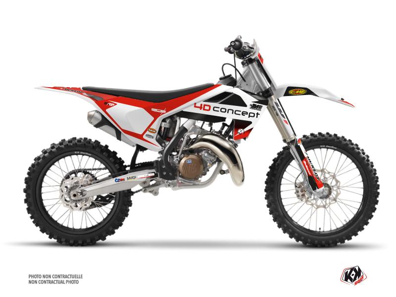Husqvarna 250 TC Dirt Bike Replica BOS Graphic Kit