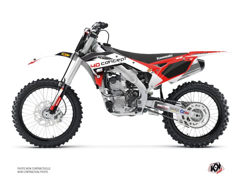 Kawasaki 250 KXF Dirt Bike Replica BOS Graphic Kit