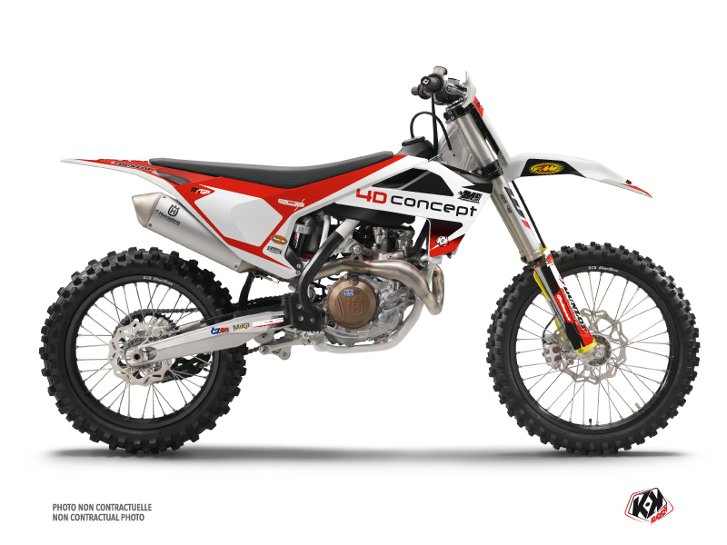 Husqvarna 350 FC Dirt Bike Replica BOS Graphic Kit