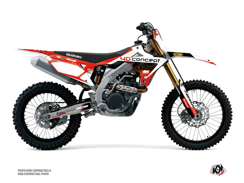 Suzuki 450 RMZ Dirt Bike Replica BOS Graphic Kit