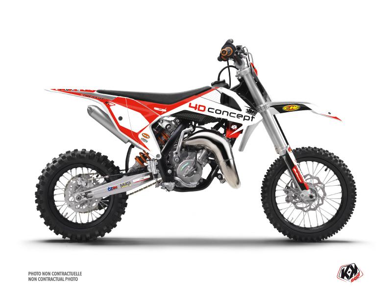 KTM 50 SX Dirt Bike Replica BOS Graphic Kit