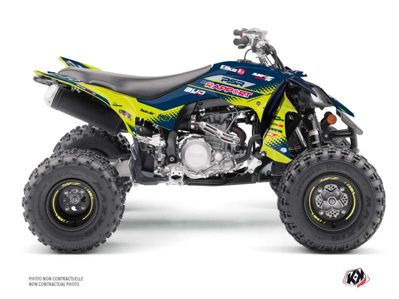 Yamaha 450 YFZ R ATV Replica By Rapport K20 Graphic Kit Blue Yellow
