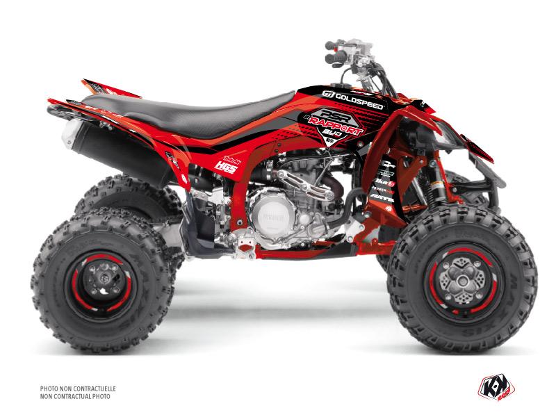 Yamaha 450 YFZ R ATV Replica By Rapport K20 Graphic Kit Red Black