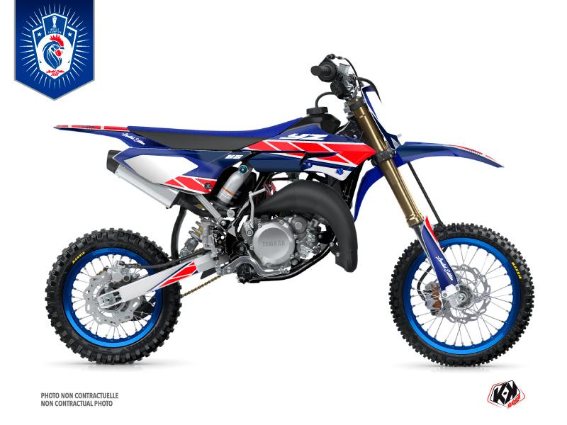 Yamaha 65 YZ Dirt Bike Replica France 2018 Limited Edition Graphic Kit