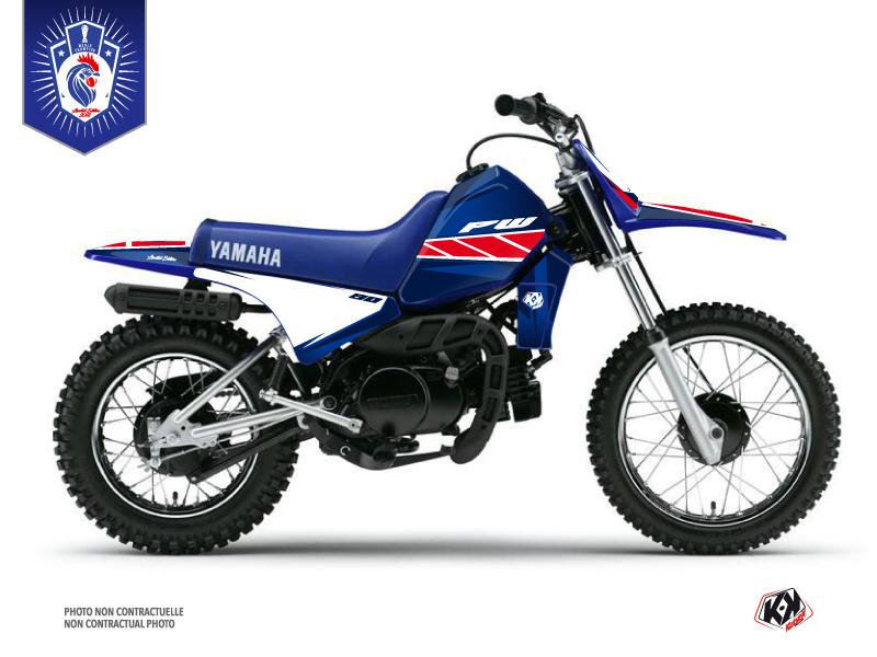 Kit Déco Moto Cross Replica France 2018 Edition Limitée Yamaha PW 80