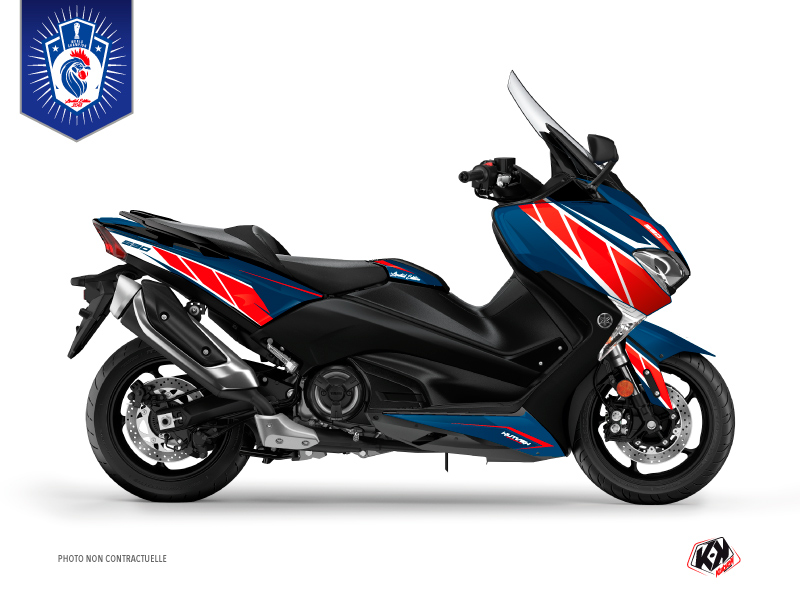 Maxiscooter Déco Moto Replica France 2018 Edition Limitée Yamaha TMAX 530