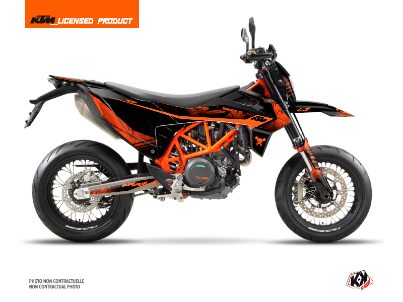 KTM 690 SMC R Dirt Bike Replica Thomas Corsi 2020 Graphic Kit Black Orange