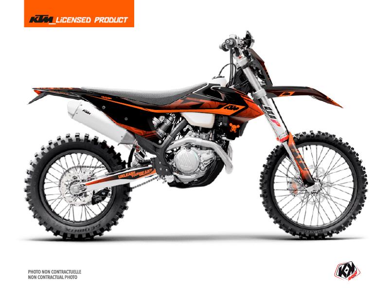 KTM EXC-EXCF Dirt Bike Replica Thomas Corsi 2020 Graphic Kit Black Orange