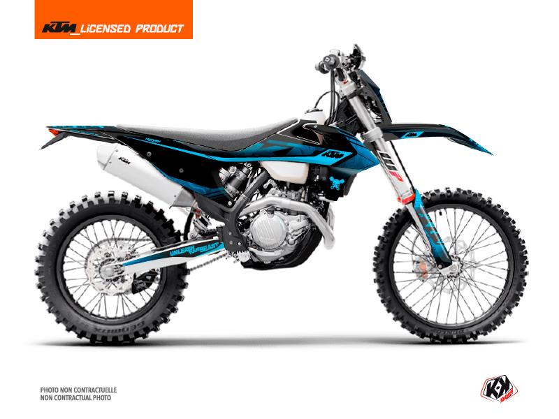 KTM EXC-EXCF Dirt Bike Replica Thomas Corsi 2020 Graphic Kit Black Blue