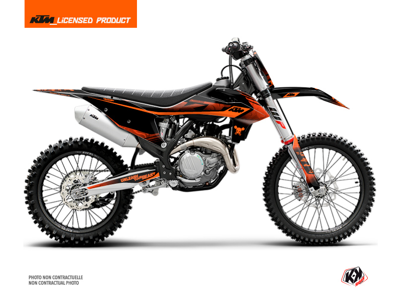 KTM 125 SX Dirt Bike Replica Thomas Corsi 2020 Graphic Kit Black Orange
