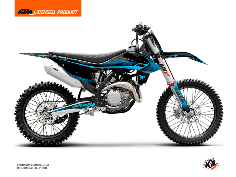 KTM 150 SX Dirt Bike Replica Thomas Corsi 2020 Graphic Kit Black Blue