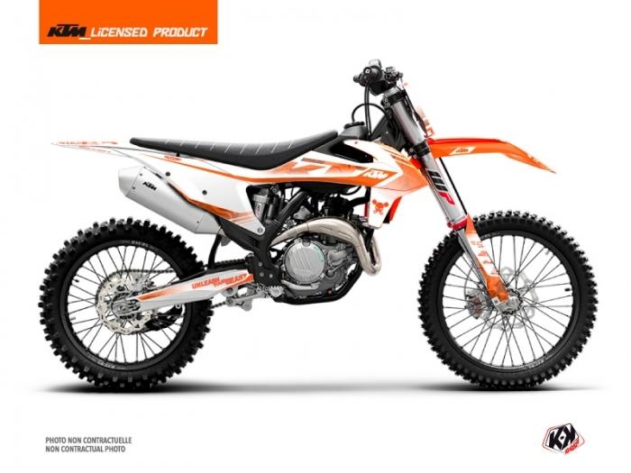 KTM 450 SXF Dirt Bike Replica Thomas Corsi 2020 Graphic Kit Orange