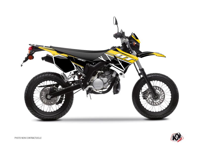 Kit Déco 50cc Replica Yamaha DT 50 Jaune