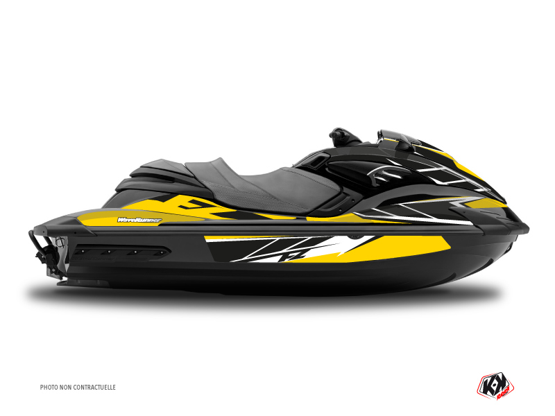 Yamaha FZR-FZS Jet-Ski Replica Graphic Kit Yellow