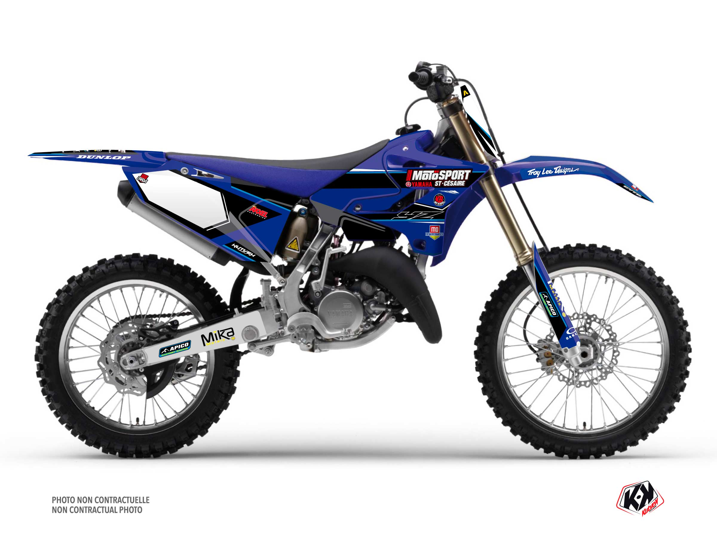 Yamaha 250 YZ Dirt Bike Replica Kaven Benoit K21 Graphic Kit