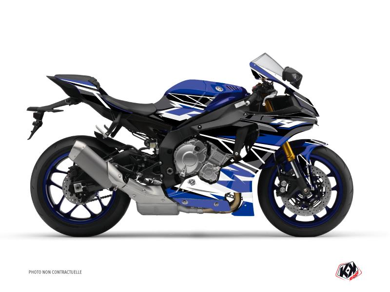 Yamaha R1 Street Bike Replica Graphic Kit Blue