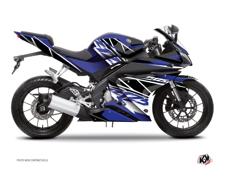 Yamaha R125 Street Bike Replica Graphic Kit Blue