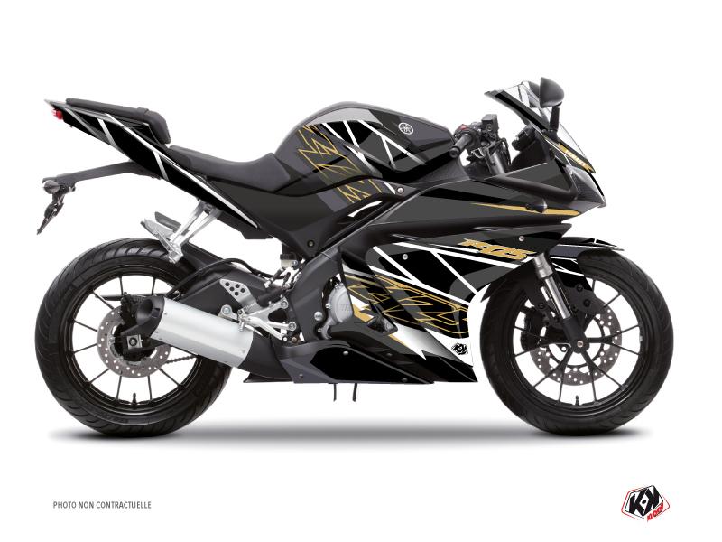 Yamaha R125 Street Bike Replica Graphic Kit Brown