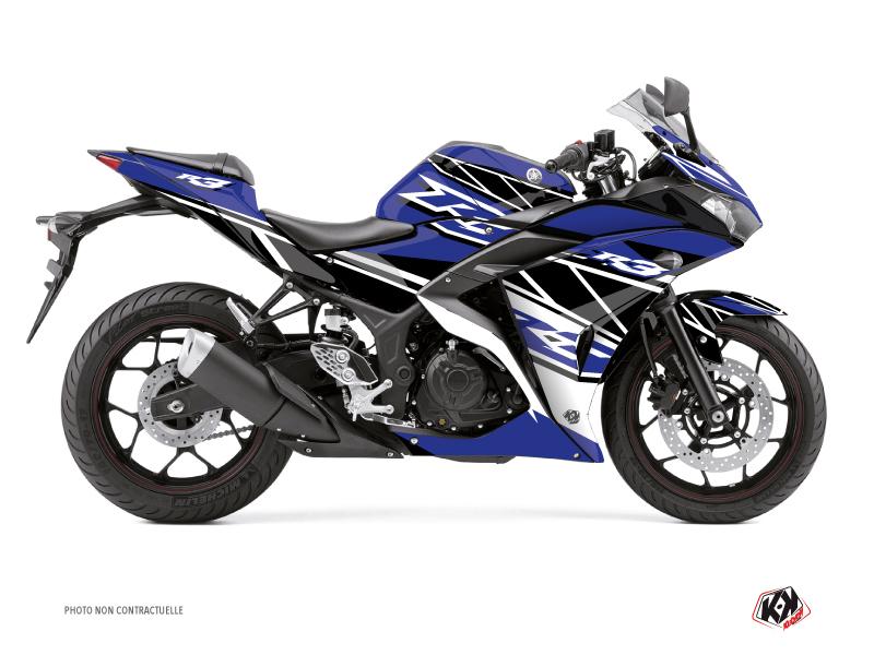 Yamaha R3 Street Bike Replica Graphic Kit Blue