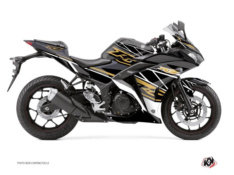 Yamaha R3 Street Bike Replica Graphic Kit Brown