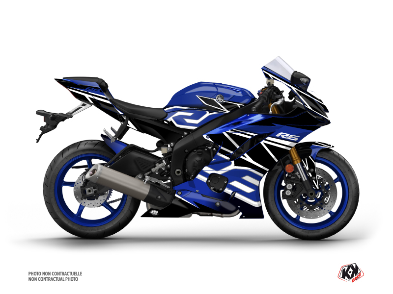 Yamaha R6 Street Bike Replica Graphic Kit Blue